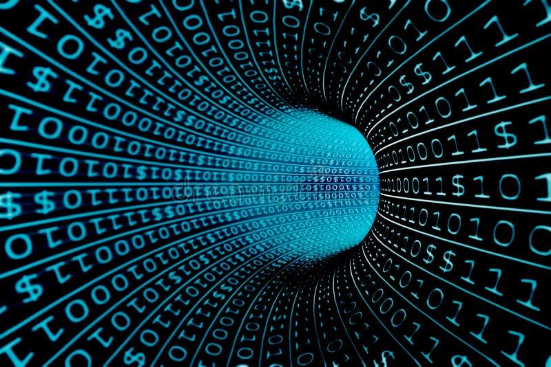 Binärer Strom lizenzfreie abbildung