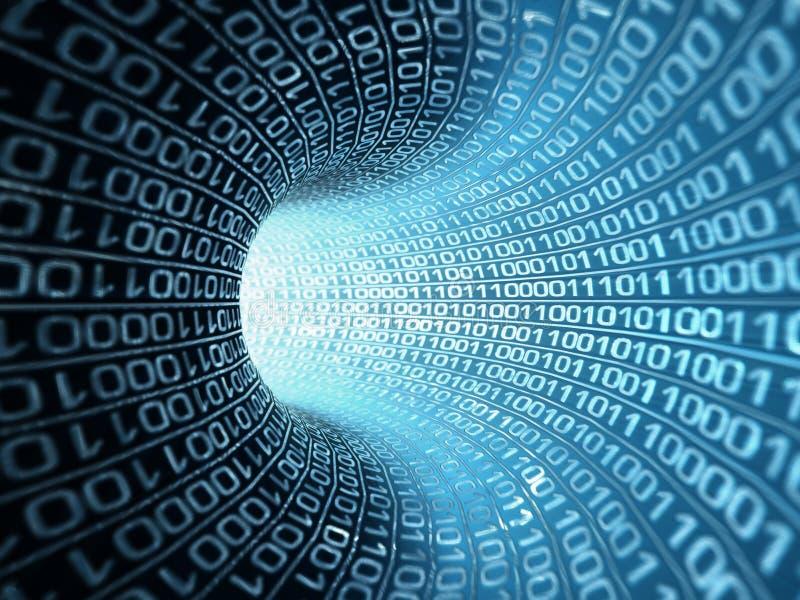 Binärer Strom stockbild