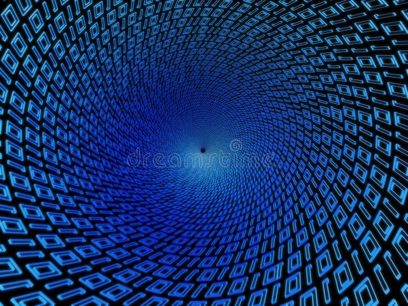 Binärer Tunnel vektor abbildung