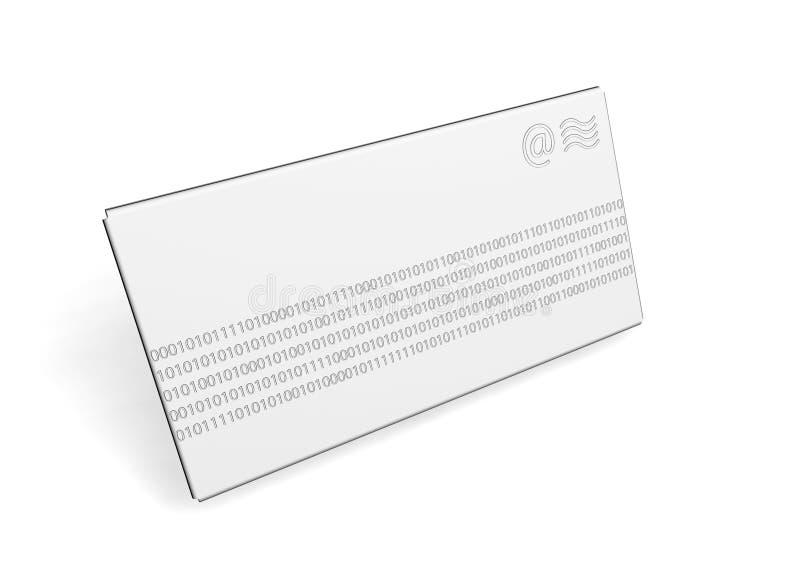 Binärer Umschlag stockbilder