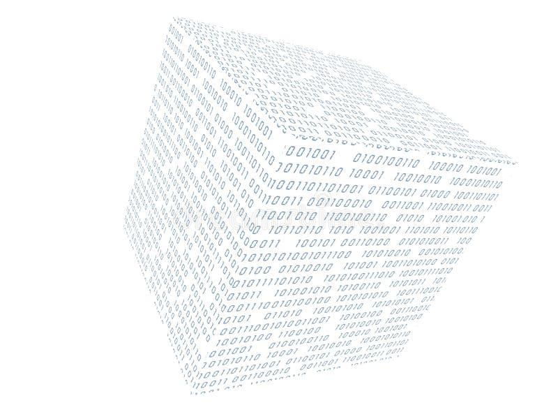 Binärer Würfel lizenzfreie abbildung