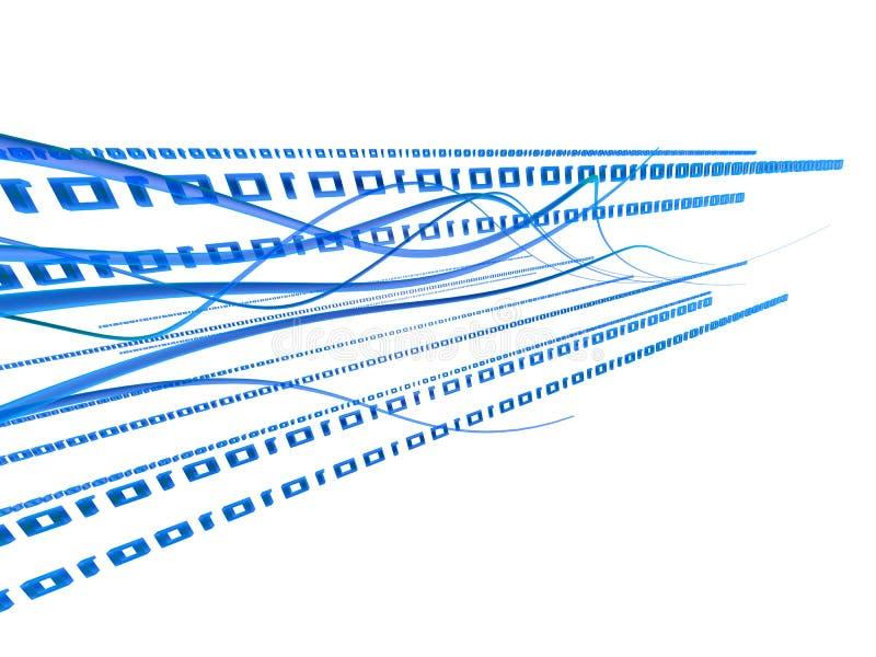 Binäres 3d lizenzfreie abbildung