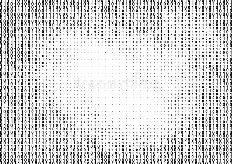 Binäres Computercode-Halbtonmuster lizenzfreie abbildung