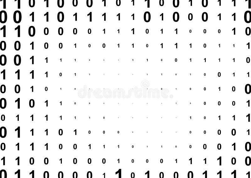 Binäres Computercode-Halbtonmuster stock abbildung