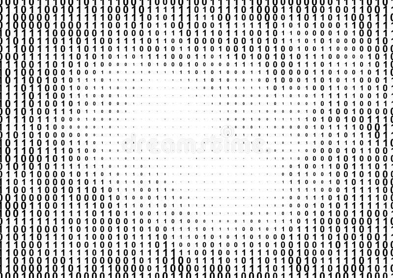 Binäres Computercode-Halbtonmuster vektor abbildung