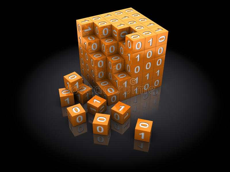 Binäres Puzzlespiel lizenzfreie abbildung