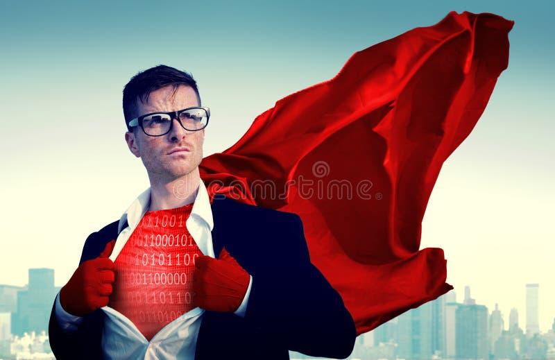 Binärt kodifiera begrepp för matris för CyberDigital kryptering arkivbilder
