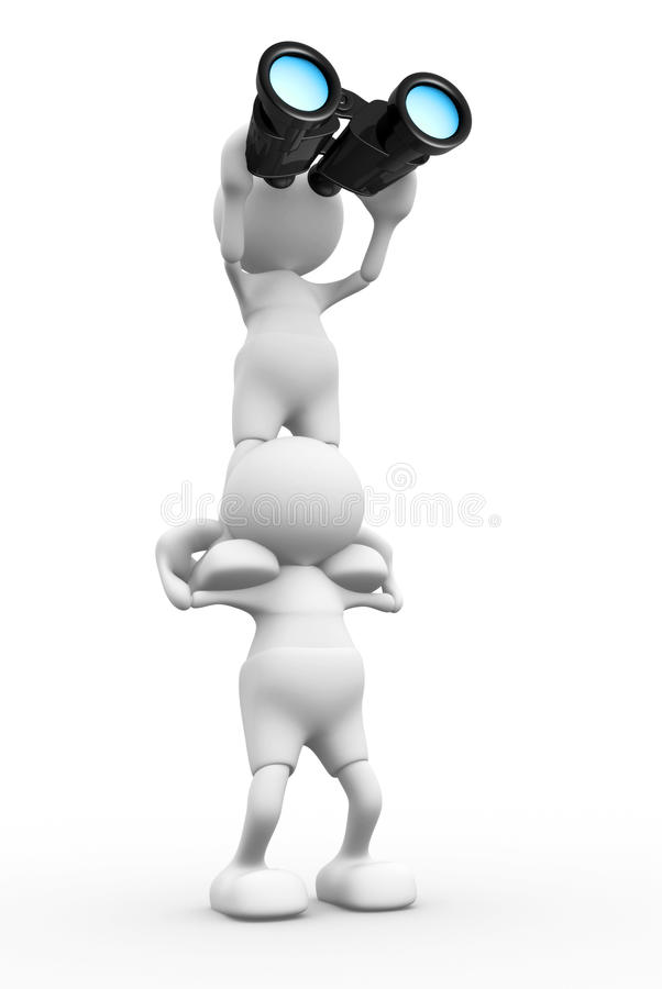 Download Binóculos ilustração stock. Ilustração de busca, esperado - 26505530