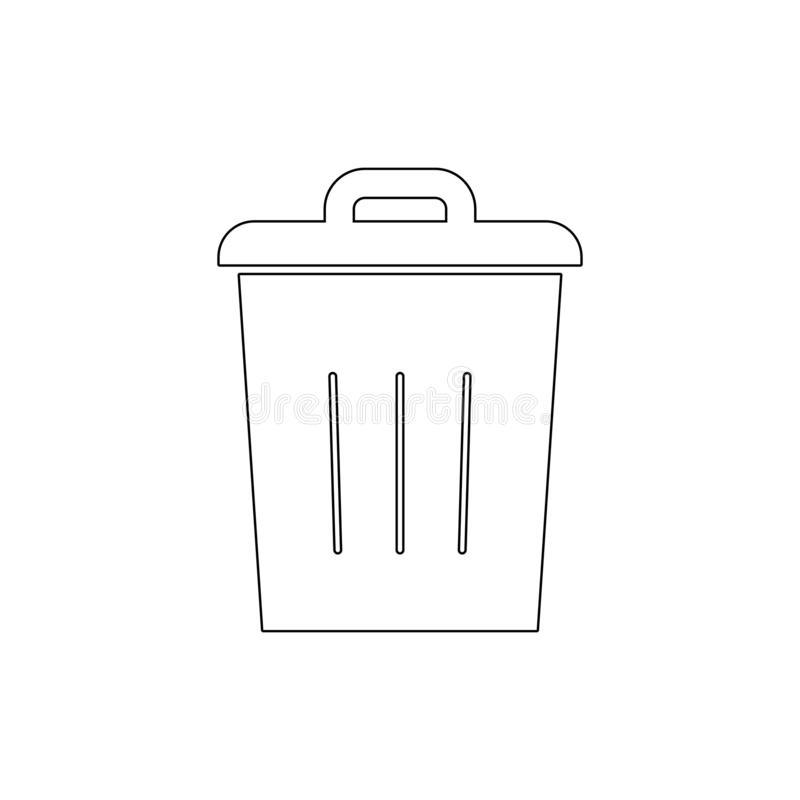Bin delete empty full recycle remove trash outline icon. Signs and symbols can be used for web, logo, mobile app, UI, UX vector illustration