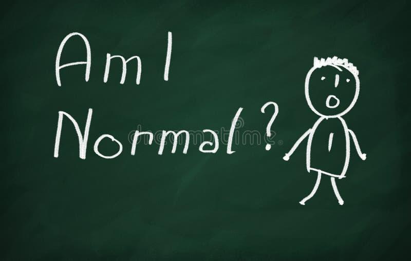 Bin ich Normal lizenzfreie abbildung