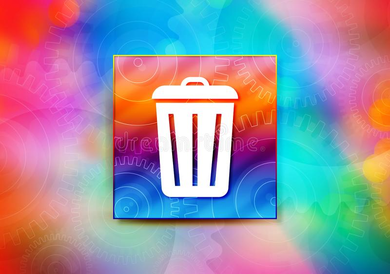 Bin icon abstract colorful background bokeh design illustration. Bin icon isolated on colorful banner abstract colorful background bokeh design illustration royalty free illustration