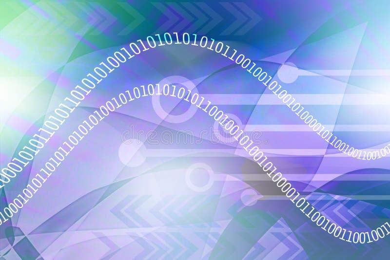 Binair gegevenslek royalty-vrije illustratie
