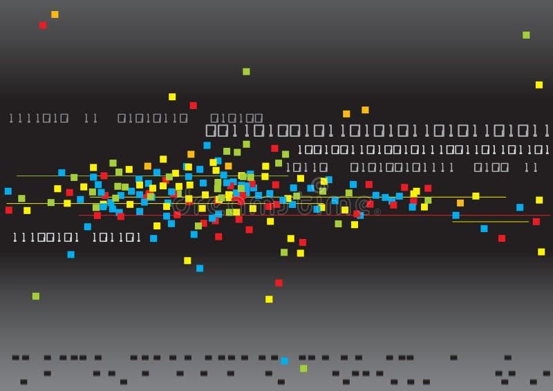Binair getal en Kleuren stock illustratie