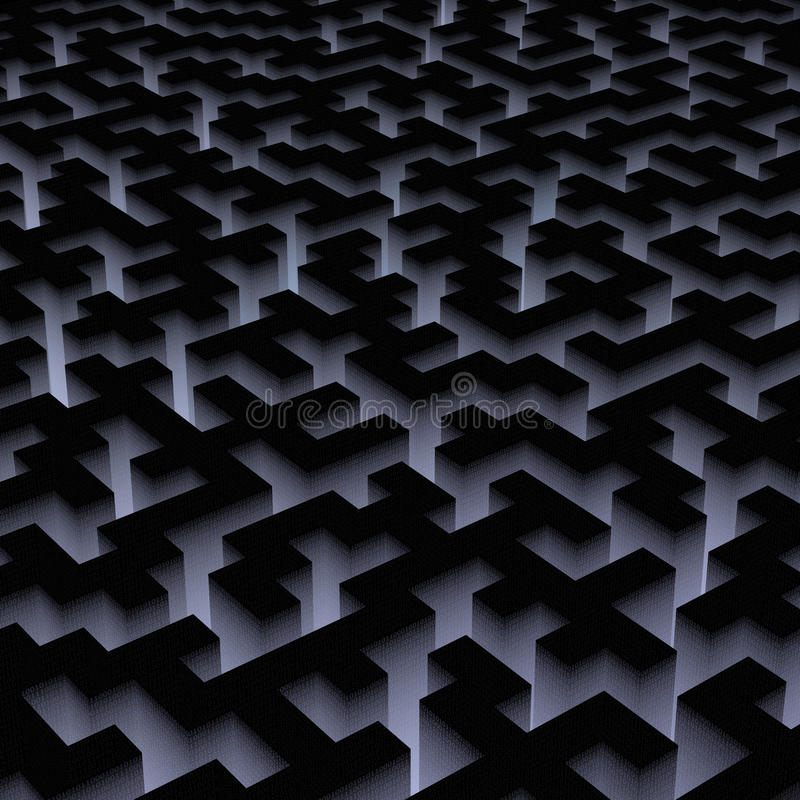 Binair labyrint stock illustratie
