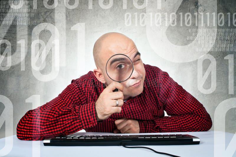 Binair onderzoeksconcept stock foto's