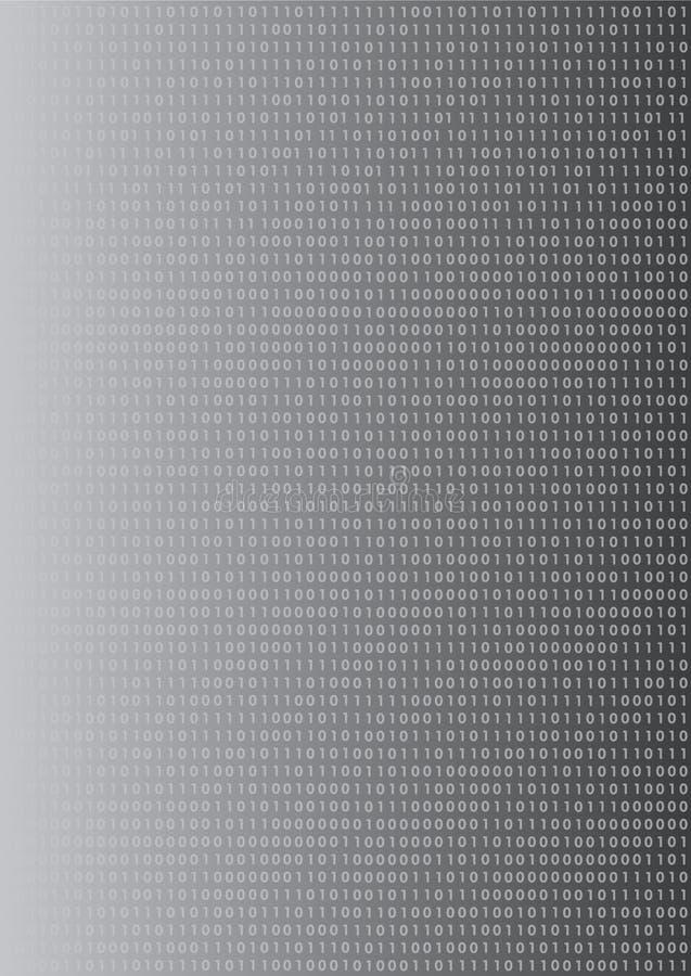 Binaire aantallenachtergrond stock illustratie
