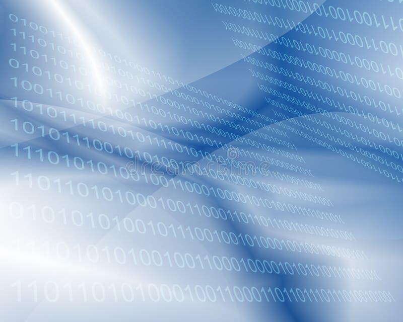 Binaire Achtergrond - Technologie royalty-vrije illustratie