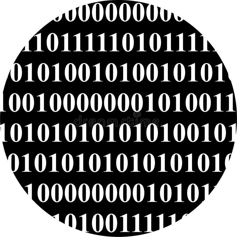 Binaire bol vector illustratie