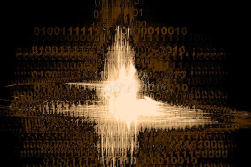 Binaire Chaos royalty-vrije illustratie