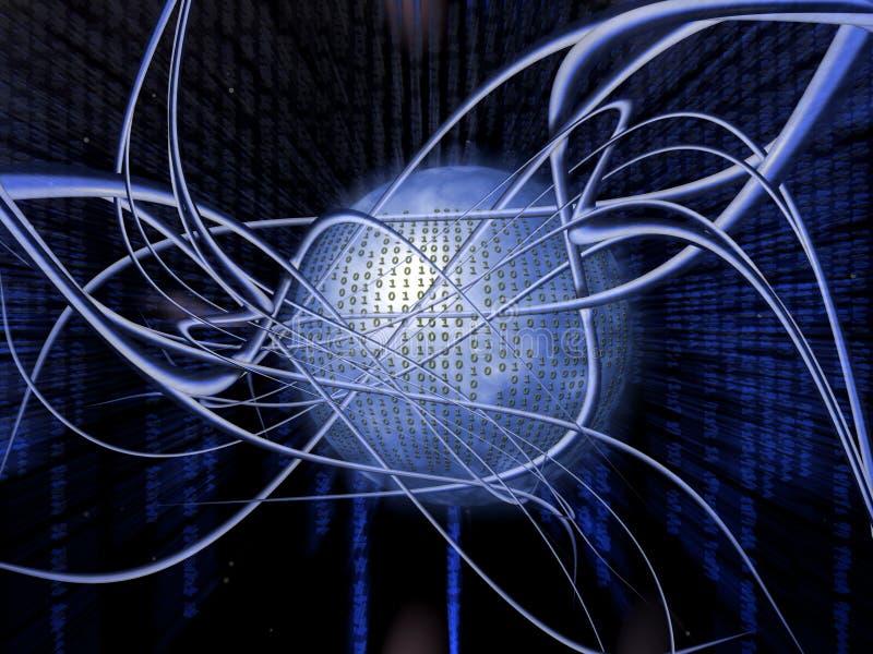 Binaire code. vector illustratie