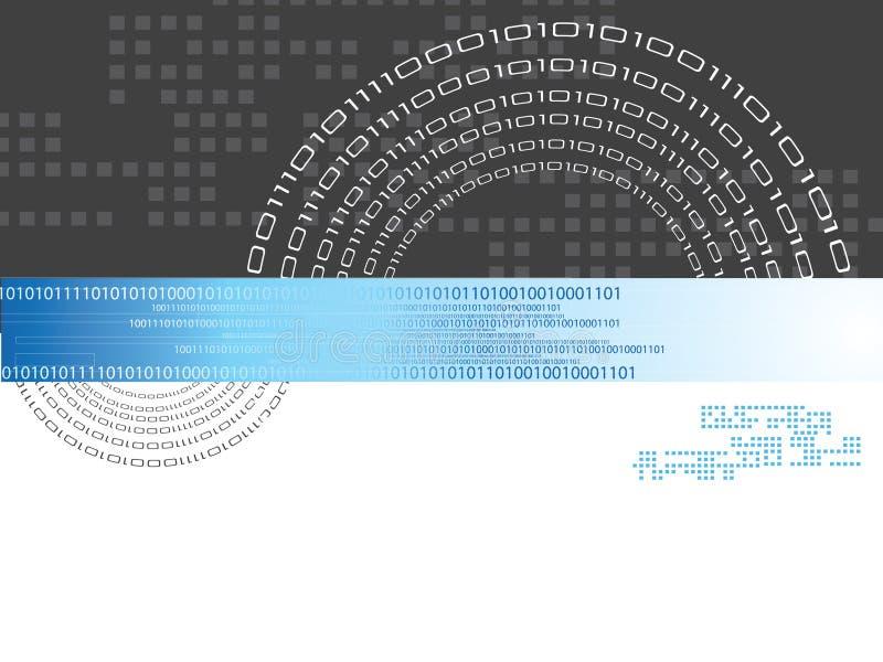 Binaire code vector illustratie