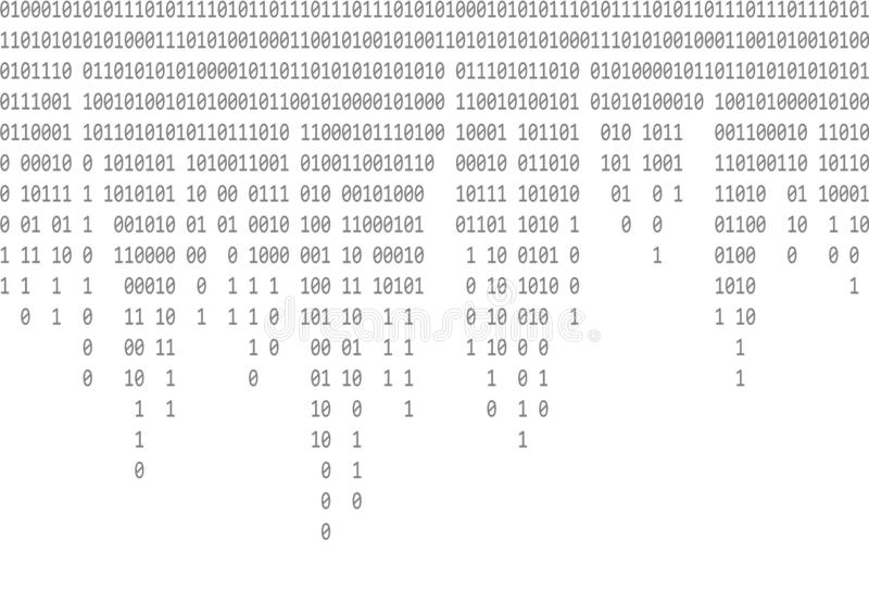 Binaire code dalende grijze achtergrond stock illustratie