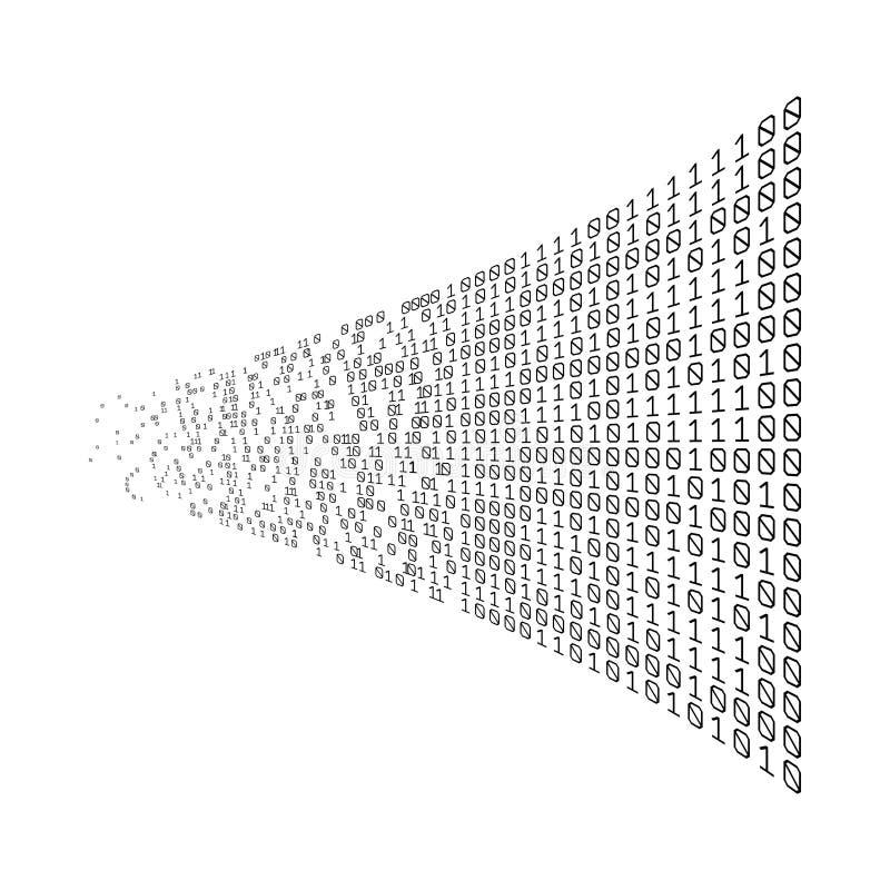 Binaire Code Digitale Technologie Gegevens het sorteren Van Chaos aan Systeem Kunstmatige intelligentie Grote Gegevens Slim syste royalty-vrije illustratie