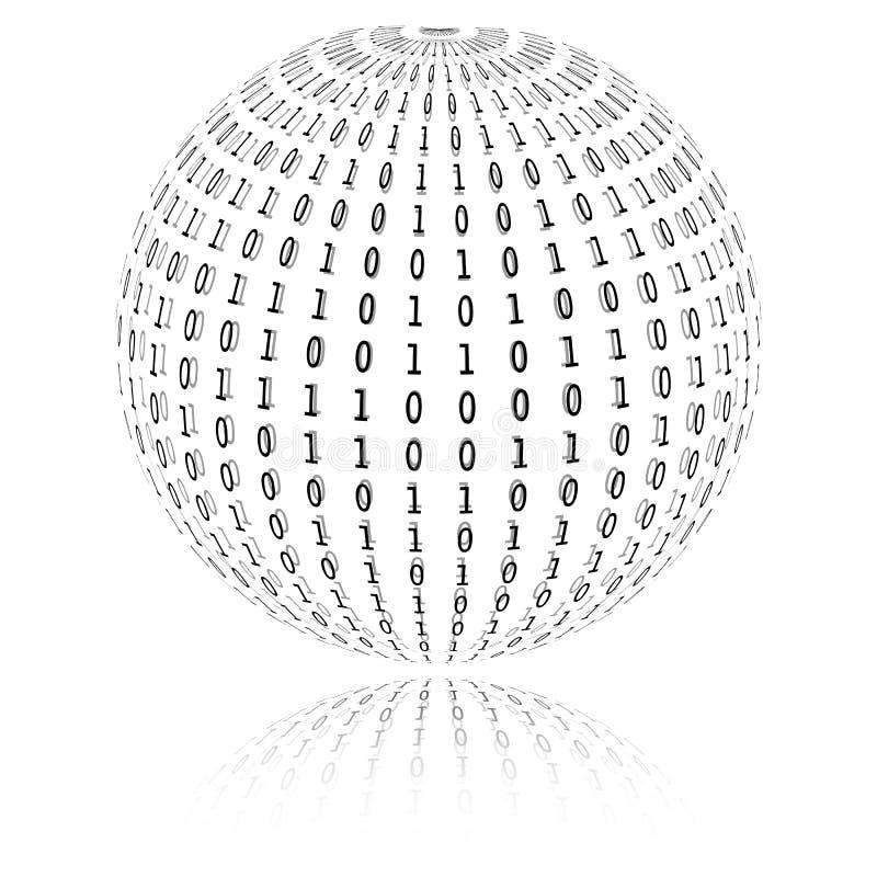 Binaire code in gebiedvorm royalty-vrije illustratie
