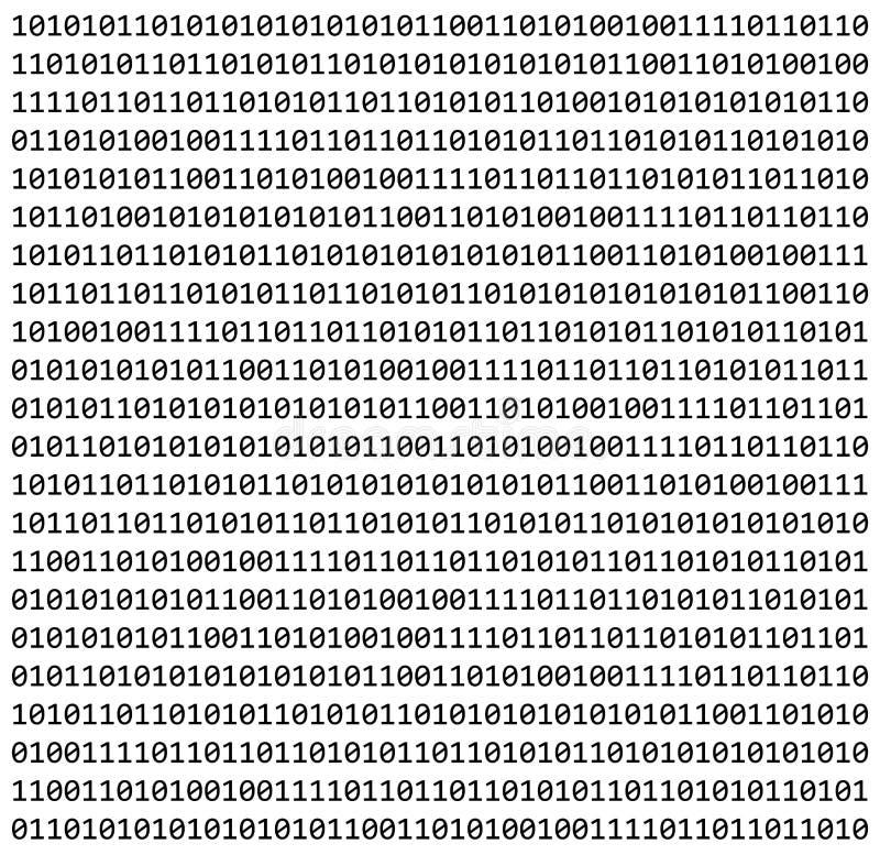 Binaire code nul één matrijs witte mooie banner als achtergrond wa vector illustratie