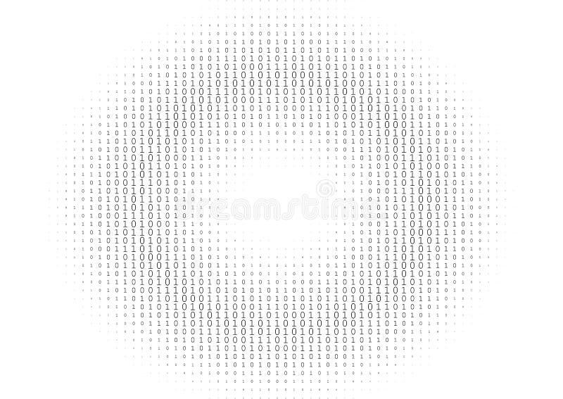Binaire Code Zwart-witte Achtergrond vector illustratie