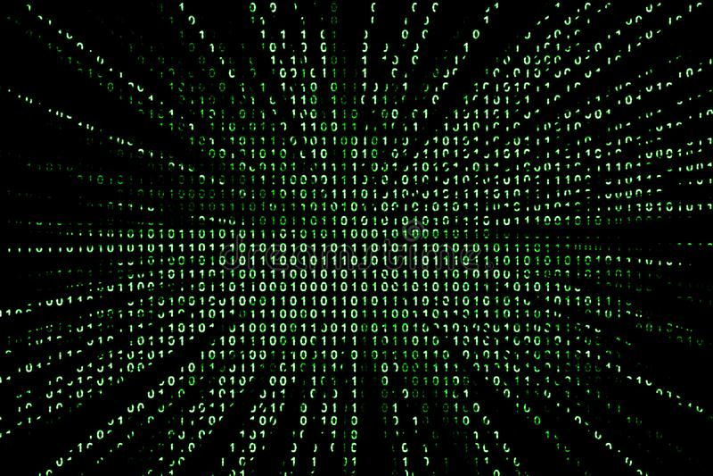 Binaire codeachtergrond stock illustratie