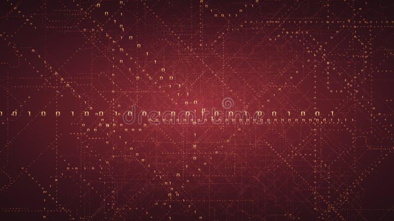 Binaire codeachtergrond Cloud Computing, IOT en Kunstmatige intelligentie royalty-vrije stock foto's