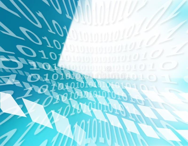 Binaire codetextuur stock illustratie