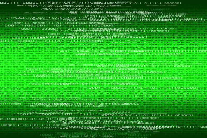 Binaire de aantallenachtergrond van de matrijs stock fotografie