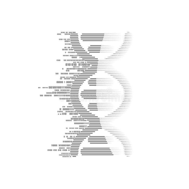 Binaire DNA stock illustratie