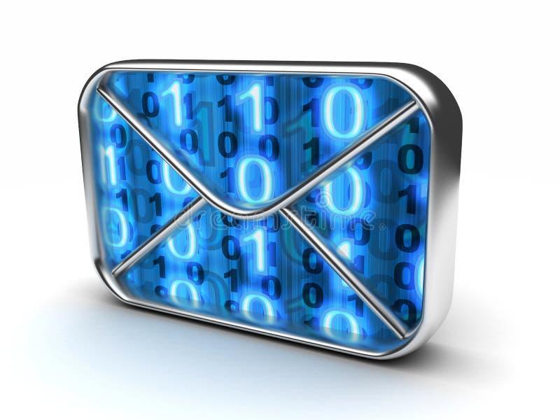 Binaire e-mail royalty-vrije illustratie