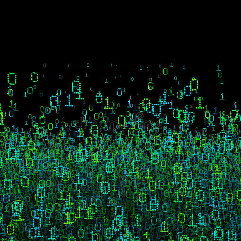 Binaire gegevensachtergrond stock illustratie