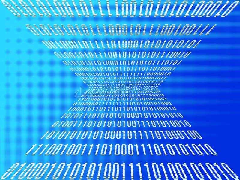 Binaire gegevensfusie stock illustratie