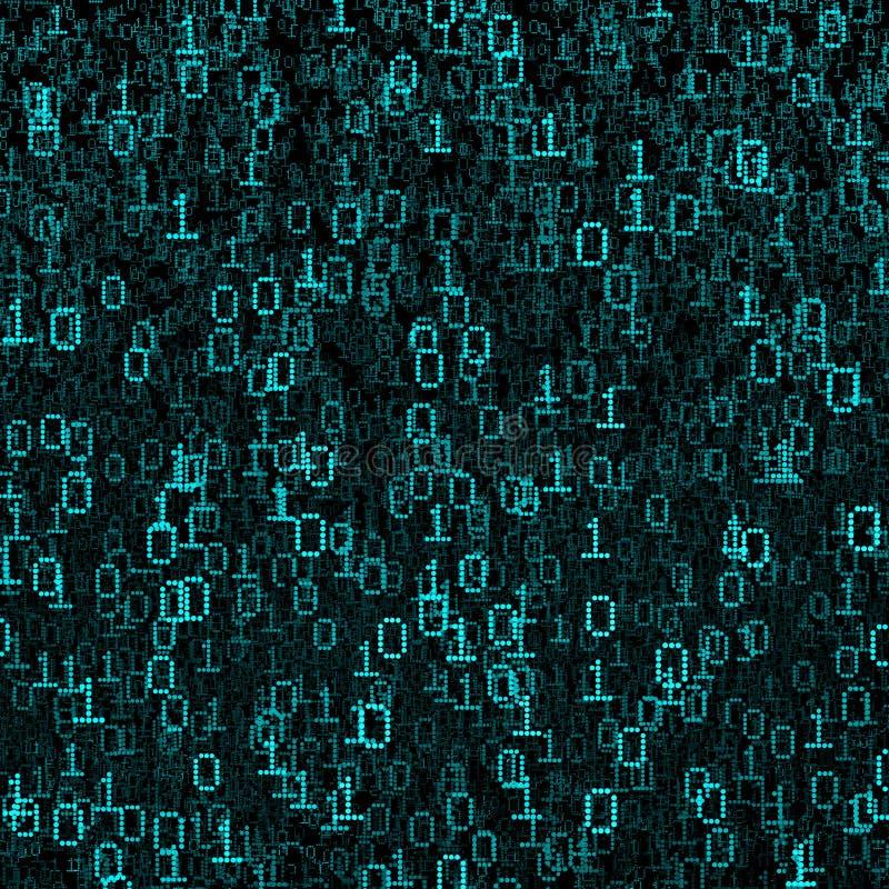 Binaire gegevenswolk vector illustratie