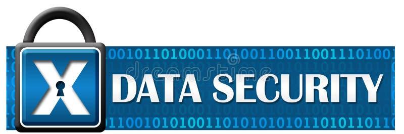 Binaire Horizontaal van het gegevensbeveiligingslot royalty-vrije illustratie