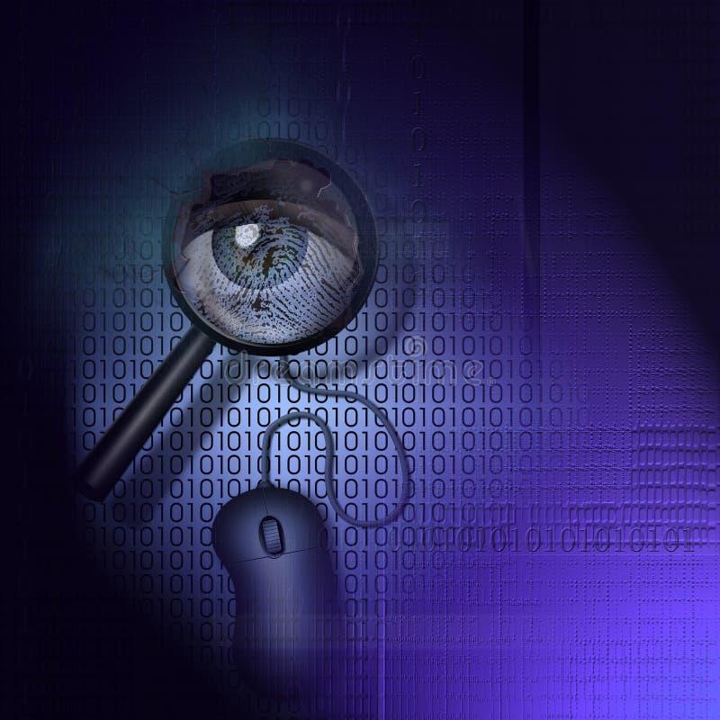 Binaire Opsporing - Veiligheid royalty-vrije illustratie