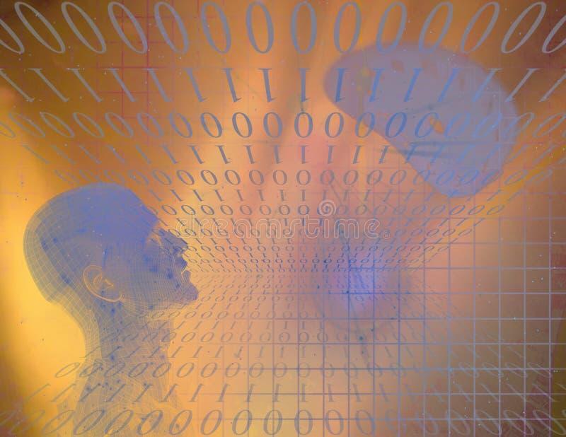 Binaire Samenvatting met Cijfer stock illustratie
