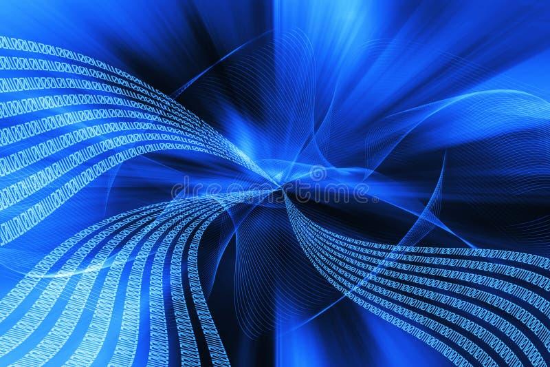 Binaire stroom vector illustratie
