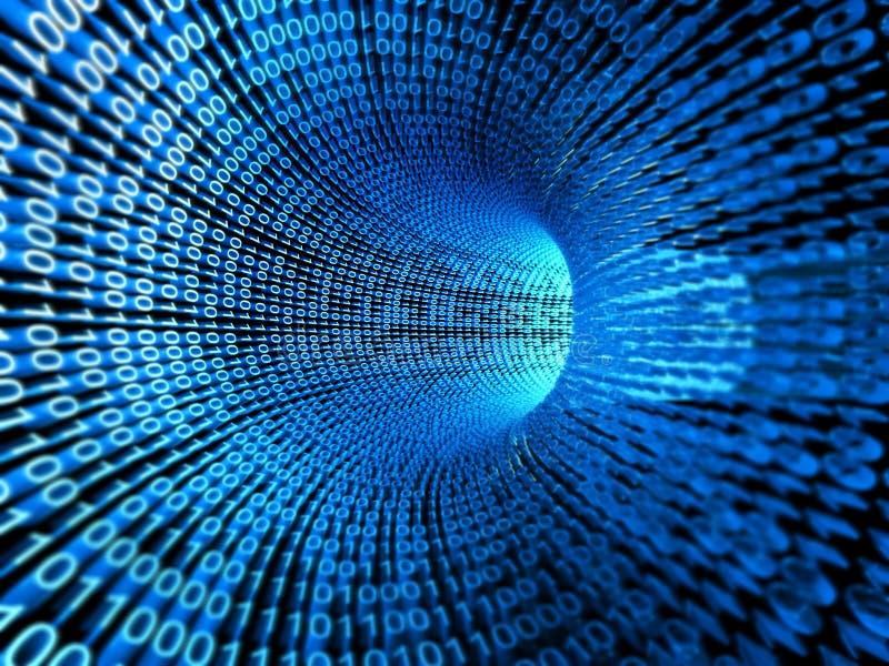 Binaire stroom, stroom van informatie vector illustratie
