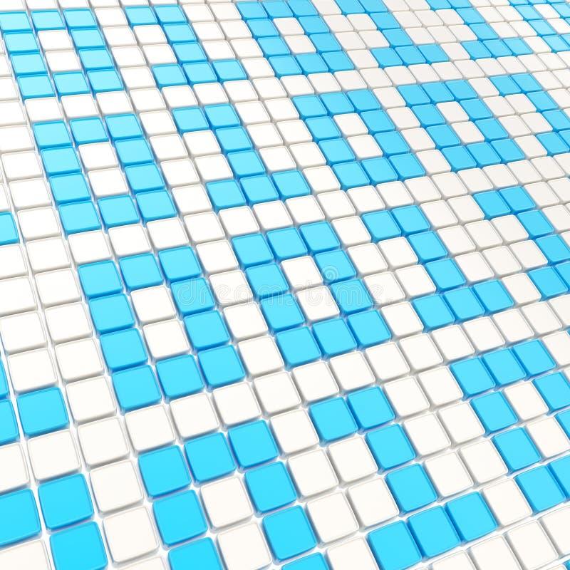 Binaire technologieachtergrond: degenen en nul vector illustratie