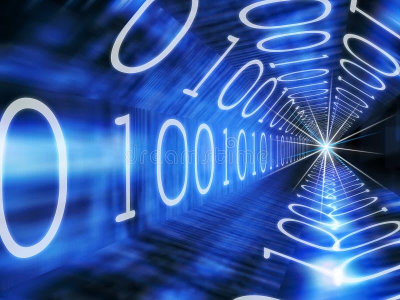 Binaire tunnel vector illustratie