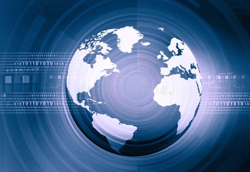 Binaire Wereld stock illustratie