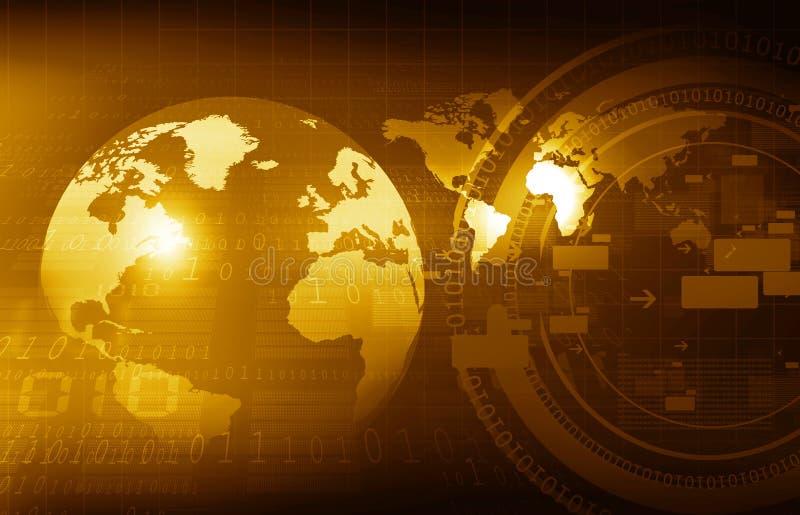 Binaire Wereld vector illustratie