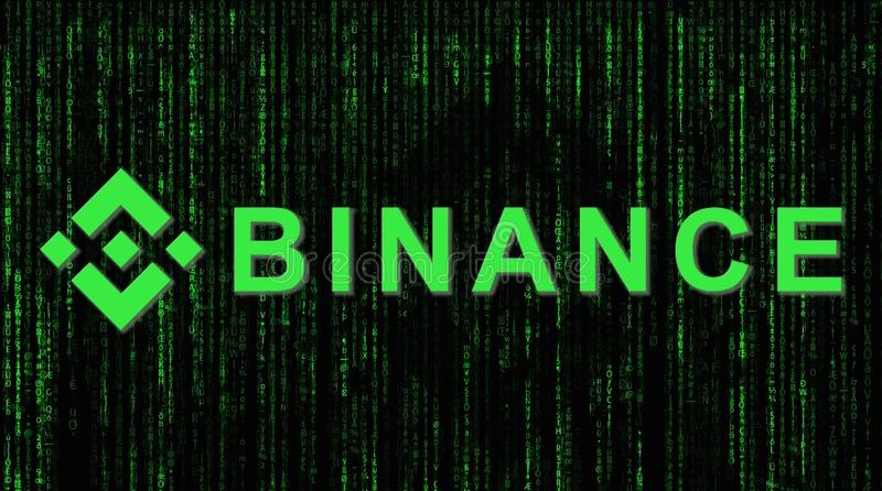 Binance är en finansutbytesmarknad Crypto valutabakgrundsbegrepp fotografering för bildbyråer