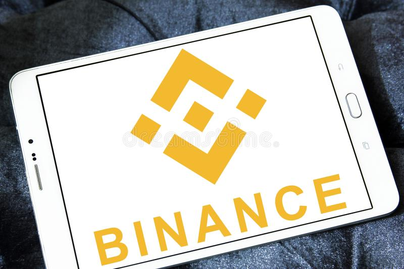 Binance cryptocurrency交换商标 免版税库存照片